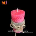Верхняя Ранг украшения Поставщиком используйте аромат ванили в стиле кантри свечи столба серого по ценам продажи