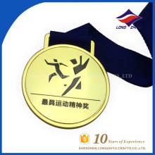 Medalha de comemoração personalizada de ouro artificial de metal falsificado