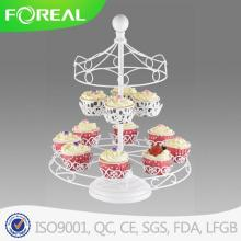 Carousel White Powder Coating Cupcake Stand