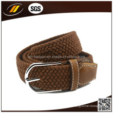 Frauen-Ledergürtel-Muster-Logo Brown Color Elastic Belt