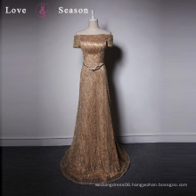 LSQ031 Off shoulder ladies fashion dresses with pictures winter dresses women exotic evening gowns