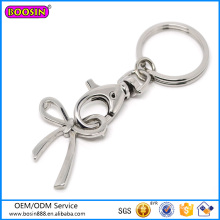 2016 Newest Arrival Silver Jewelry Bowknot Keychain #12033