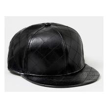 Leather Bill 6 Panel Snapback Hats Custom