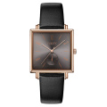 Customize Logo Square watch Stainless Steel Case Japanese Quartz small seconds Watch