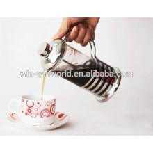 Único portátil aço inoxidável francês Press cafeteira