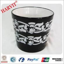 Vietnam Decoración para el Hogar Pote de jardín Pot Potter / Black Pottery Pots Venta al por mayor / caliente Nuevos productos For 2014 ceramic f Pot
