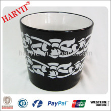 Vietnam Home Decor Pot de céramique Pot de jardin Planteuse / poterie de poterie noire Vente en gros / Nouveaux produits chauds pour Pot 2014 en céramique