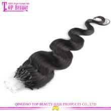 6A Qualität unverarbeitete brasilianische Jungfrau Haar Micro Loop Ring Haarverlängerung