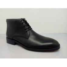 Botas de tornozelo preto Mens Lace (NX 537)