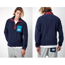 Zipper Pullover Men′s V-Necked Hoody