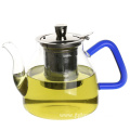 Heat-resistant glass teapot with warmer