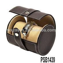caja de reloj de cuero profesionales para 2 relojes de fábrica de China