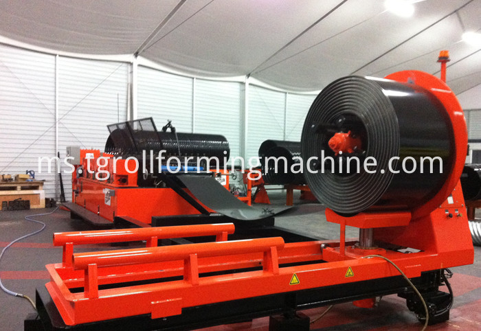 Steel Pipe Culvert Making Machine