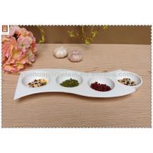 durable porcelain compartment japanese tableware wholesale dish