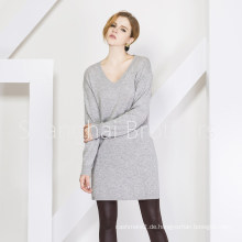 Lady Fashion Cashmere Kleid Pullover 16brss110