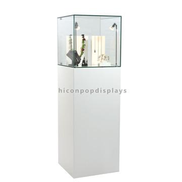Creative Wood Base Glas Top Beleuchtete Schmuck Shop Mode Schmuck Showcase Display zum Verkauf