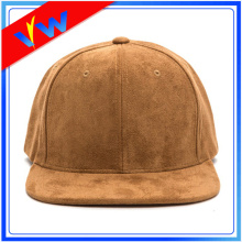 Plain Suede 6 Panel Snapback Cap