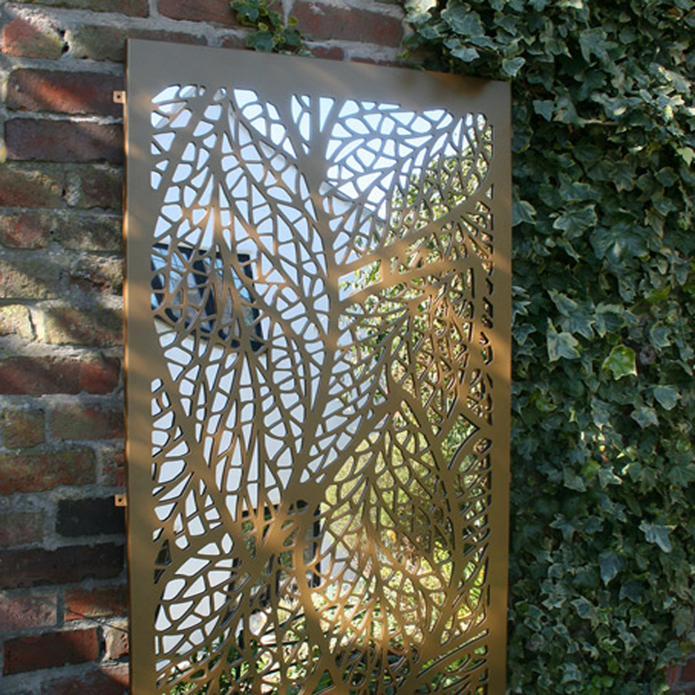 Artistic Laser Cut Metal Gate
