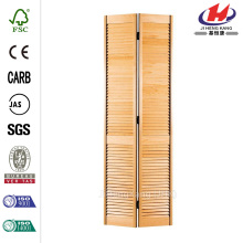 Smooth Full Louver Unfinished Pine Bi-fold Door
