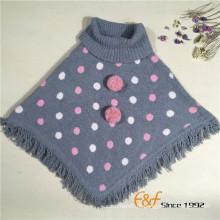 Moda Lady Turtleneck Tassel Thick Pullover Sweater Cape