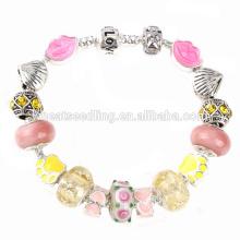 Vente chaude de perles de verre à la main mexicain 2016 bracelets à perles populaires