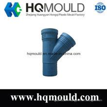 Le moulage latéral en plastique de moulage par injection évasé de pièce en t de 45 degrés