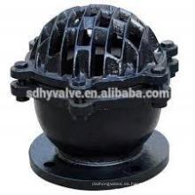 Válvula de pie de bomba de agua de hierro 125 clase PN16 DN50-DN300
