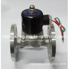 AC220V Dn25 Stainless Steel Flange Air, Oil Magnetic Valve