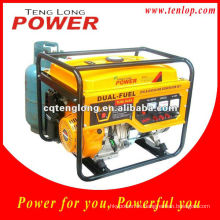 Pequeños portátiles hogar utiliza LPG generador, salida 2kw