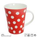12 oz tasse à café en céramique avec des points