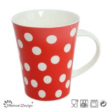 Caneca de café cerâmica 12oz com pontos