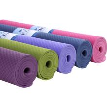 TPE Yoga Mats Custom Printed Eco Friendly New Pink Purple Black Green Waterproof Blue Body OEM Customized Logo Packing Opp