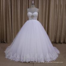 сексуальная перспектива милая аппликация кружева свадебное платье бальное платье