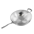 Pure Titanium 30cm Frying Pan steel handle