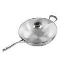 Pure Titanium 30cm Frying Pan steel handle
