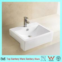 Ceramic Sanitary Semi Mounted Wash Basin