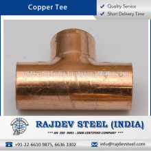 High Quality Range of Matt Finish Copper Tee for Pharmaceutical Plants