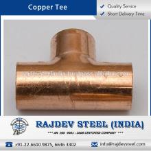 High Quality Range of Matt Finish Copper Tee for Pharmaceutical Plants