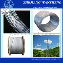 Ehs 1/4 '' Galvanisierter Stahlkabel Wire Guy Wire ASTM A475 Klasse a
