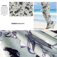 Polyester gebürstet gedruckten Strand Hose Stoff / Casual tragen Stoff