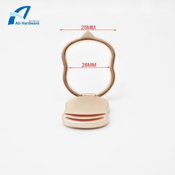 Elegante logotipo personalizado anillo del dedo del teléfono titular