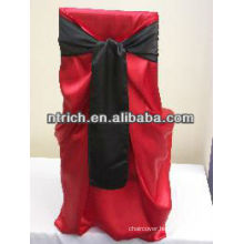 Charming satin square back self-tie bag chair cover for wedding