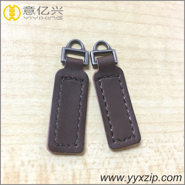 genuine leather zipper puller
