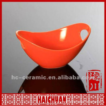 Boat shape ceramic fruit bowl, boat shape bowl