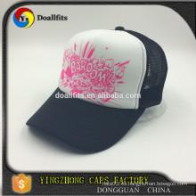 Casquillo / sombrero blancos del camionero del acoplamiento de la espuma del negro de la manera de 5 paneles