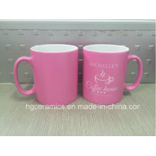 Spray Color Mug, Pink Color Printing Mug