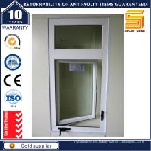 Ventanas abatibles de aluminio australianas del doble vidrio de la ventanilla