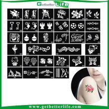 Getbetterlife 2014 nova temporária 5-7days mantendo Glitter Stencils elegante projetos Glitter tatuagens