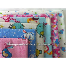 animal Printed flannel fabrics 100% cotton for childrens sleepwear