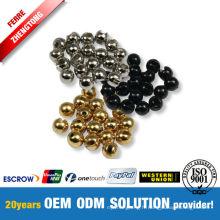 Fabrication de perles de tungstène à fentes